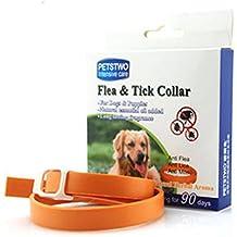 Mascota de pulgas y garrapatas Collar, NNIUK de caucho impermeable Flea Collar Natural olor a aceite esencial para proteger a sus perros y gatos preciosos.