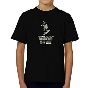 Teeburon Life is simple eat, sleep and Wakeboard Jungen T-Shirt