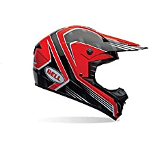 Bell Casco de motocicleta de 1, Adult Casco, color Race Rojo, ...