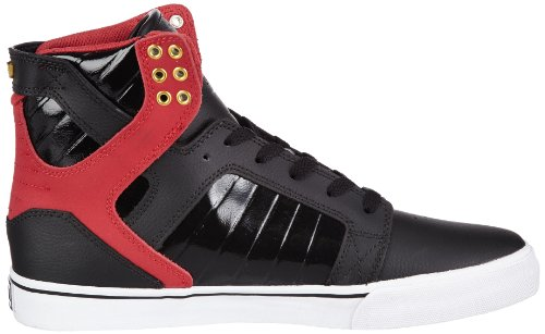 Supra Skytop, Hi-Top Slippers mixte adulte Noir - Schwarz (BLACK/RED - WHITE BRW)