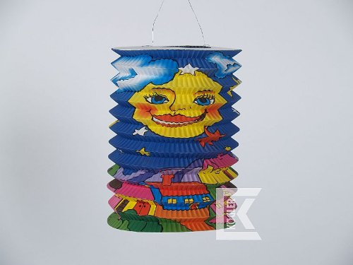 dt mit Full Moon Flammschutzmittel Laterne in Tasche, Papier, Karton, mehrfarbig, 30x 15x 25cm (Maske Party-stadt)