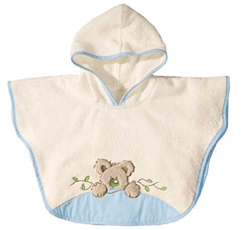 Morgenstern, Frottee - Badeponcho, 1-3 Jahre (one size), Farbe natur/blau, Koala, 100 % Baumwolle,