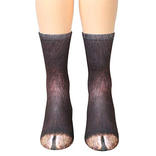 dressfan Niedliche Tier Socken Unisex Erwachsene Kinder 3D-Druck Tier Socke Paw Socken für Coslpay - Niedliche Tiere Kostüm