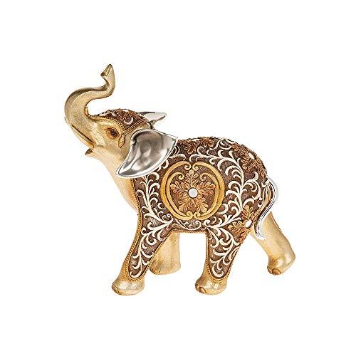 Shudehill - Figura Decorativa de Elefante de Filigrana Dorada, tamaño Grande