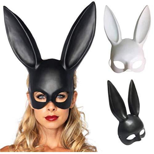 Gamloious Sexy Kaninchen-Ohr-Maske Häschen-Mädchen-Gesichtsmaske Abschlussball-Partei-Maskerade-Kostüm blumige (Maskerade Maske Für Mädchen)
