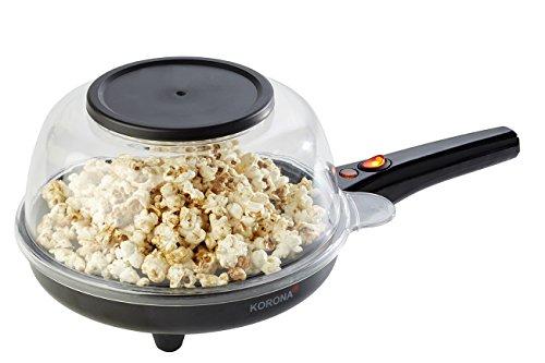 Korona 41050 Popcorn und Crêpes Maker -  Kombi Gerät zur Nutzung als Popcornmaschine mit Deckel oder als Crêpes Pfanne - Beschichtete Popcorn