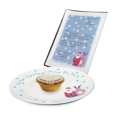 Snow scene mince pie piastra & Letter,