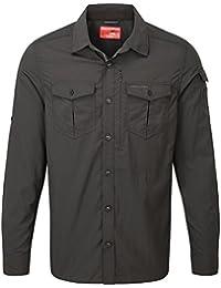 Craghoppers NosiLife Mens Adventure Long Sleeve Classic Shirt (L) (Black Pepper)