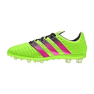 adidas Unisex-Kinder Ace 16.1 FG/AG Fußballschuhe Grün (Solar Green/Shock Pink/Core Black) 33 EU