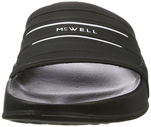 McWell Herren Badesandalen schwarz/weiß
