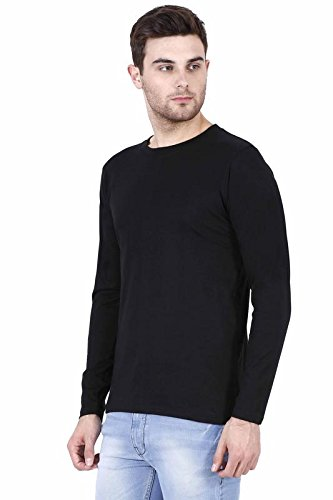 RSO Outfits Black White Extra Large Size Cotton Full Sleeves Plain Men T-Shirt (Pack of 2)