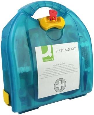 Q-Connect - Botiquín de primeros auxilios (asistencia para 10 personas)
