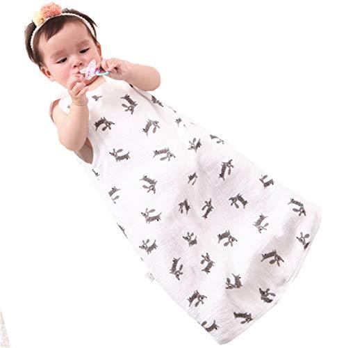 Chilsuessy Sommerschlafsack Baby Schlafsack Sommerschlafsack 0.5 Tog Kinder Schlafanzug Babyschlafsack Ärmellos für Neugeborene 100% Baumwolle, Hund, XL/Baby Hoehe 90-100cm (Pyjama-böden Baumwolle)