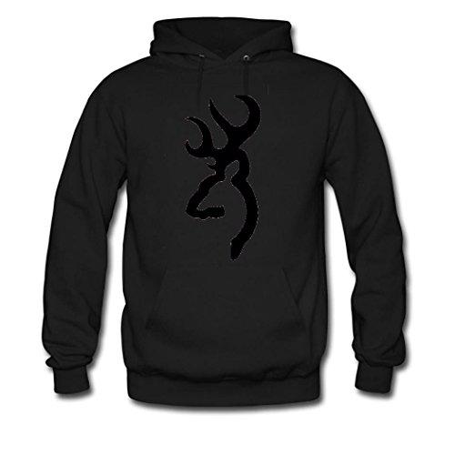 HKdiy Browning logo Custom Classic Men Hoodie Black-1