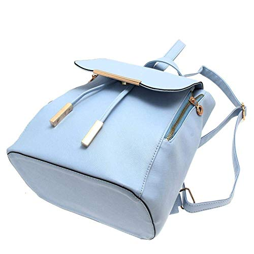 Bizanne Fashion Girl's Canvas Attractive College Bag (Blue) Image 4