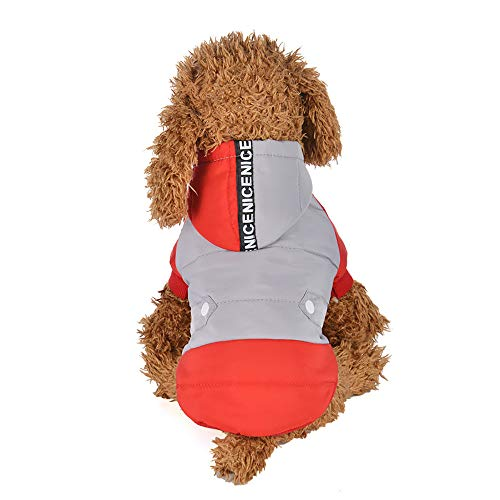 Elastische Kapuze (SOMESUN Haustier Hunde Kapuzenpullover Winterjacke Mini Hündchen Welpe Süß Sweatshirt Mit Kapuze Winter Warme Hundemantel Sweater Weich Elastisch Hundejacke Shirt)