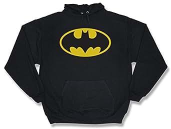 Batman Classic Logo Hoodie Sweatshirt, Large