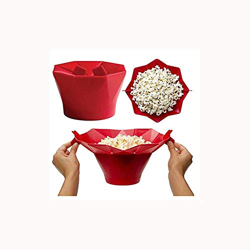 Mikrowelle silikon popcorn maschine falten eimer küche backen werkzeuge faltbare popcorn eimer