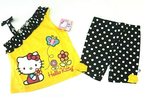 Hello Kitty Sommer Outfit Größe 80/86 T-Shirt + Shorts USA Size 24 Month Mädchen Kombination 2 teilig