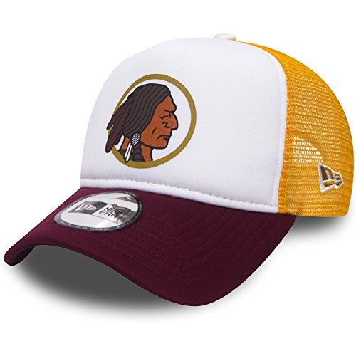 New Era NFL Throwback Truck Adjustable WASHINGTON RED SKINS Weiß Gelb, Size:ONE SIZE (Weiße Baumwoll-skull-cap)