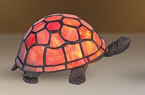 Schildkröte Tiffany-stil Lampe (Ausverkauf! Wunderschön Orange Tiffany inspiriert Schildkröte / Schildkröte dekorativ elektrisch Nachttisch Lampe)
