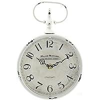 Orologio da parete Vintage in stile Shabby Vintage bianco anticato