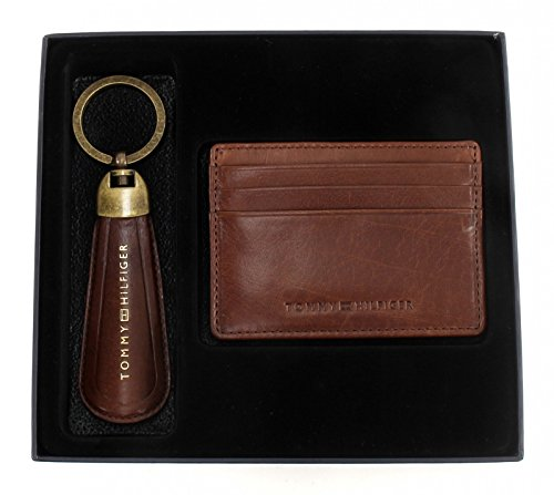 TOMMY HILFIGER Formal CC Holder and Shoe Horn Keychain Box Tan Tan-box
