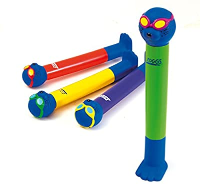 Zoggs Children's Safe Water Toy Dive Sticks in Bright Colours, Above 3 Years