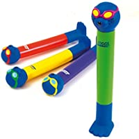 Zoggs Children's Safe Water Toy Dive Sticks in 4 Bright Colours - Multicolour, Above 3 Years