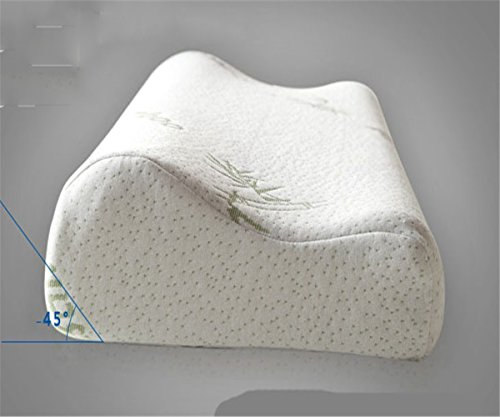 GXSCE Langsames Rebound-Memory-Kissen, Cervical Special-Massagekissen, hypoallergen und Anti-Staub-Weiß, Anti-Schnarch-Kopf-Soft-Support-Komfort waschbare Kissen