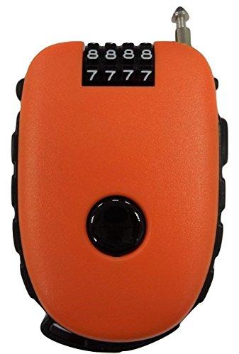 Bosvision - Cerradura de combinación de 4 dígitos con cable retráctil de 3 pies para bicicleta, esquí, snowboard y cochecito