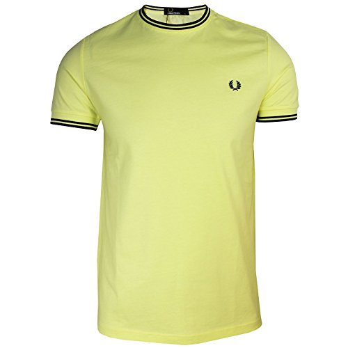 Fred Perry Men's Twin Tipped T-Shirt Yellow