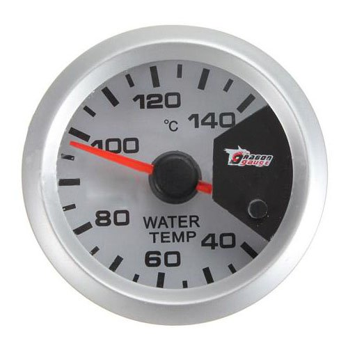 """LED Thermometer - SODIAL (R) 7 Farbe Motor Shift 2"""" 52mm LED Thermometer Wassertemperatur Temperatur Meter Messgeraet"""