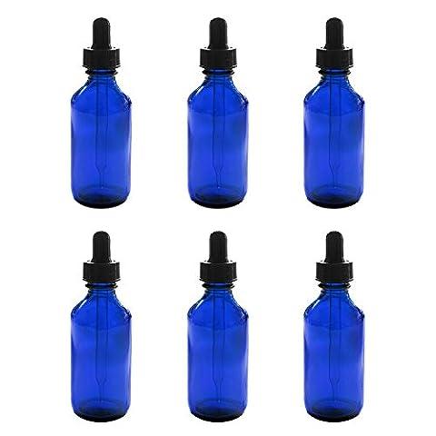1oz Cobalt Blue Glass Bottles with Glass Eye Dropper -