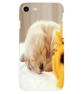 ColourCraft Cute Puppy Design Back Case Cover for APPLE IPHONE 7