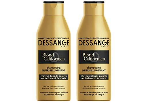 Dessange, Shampoo nutriente illuminante con effetto schiarente graduale, Biondo californiano, 250 ml, 2 pz.