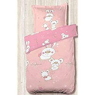 Alpes Blanc Pets Friends Baby Duvet Cover 100 x 140 cm Pink
