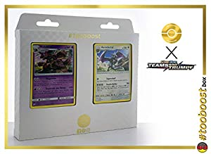 Nidoking 59/181 & Aerodactyl (Ptera) 130/181 Tooboost X Sonne & Mond 9 Teams Sind Trumpf - Juego de 10 Cartas Pokémon y 1 Goodie Pokémon