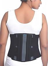 Elnova Lumbo Sacral Corset (Back Pain Belt) (X-Large - For Hip Circumference of 100-110 cm, Black)