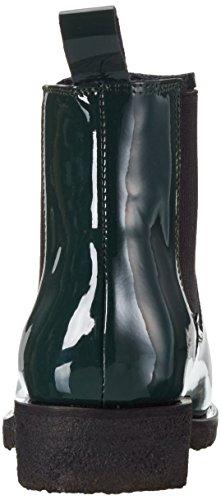 Shoe Biz Benita, Bottes Chelsea Femme Vert (Patent Bottle Green)
