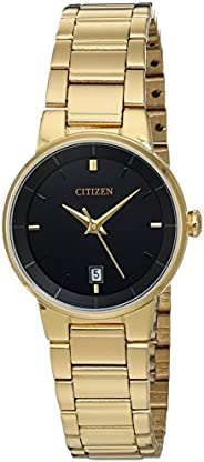 CITIZEN Womens Quartz Watch, Analog Display And Stainless Steel Strap, Gold - EU6012-58E
