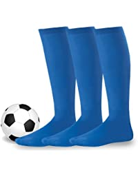 Soxnet acrílico Unisex Fútbol Deportes equipo Cojín Calcetines Pack de 3