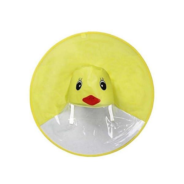 Sencillo Vida Chubasquero Niños, Impermeable Chaqueta de Lluvia con Capucha, Diseño de Pato, Plegable, Raincoat Niño… 4