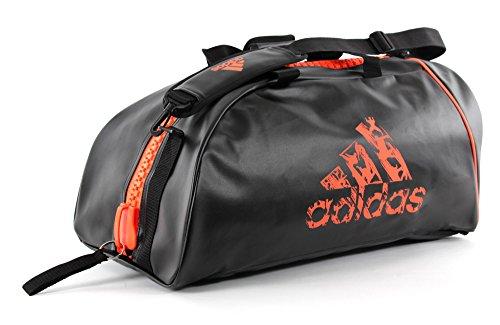 Adidas-Zaino, Unisex, Rucksack, Nero/Arancione, L