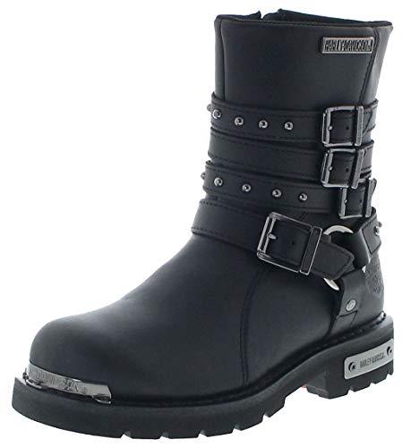 FB Fashion Boots Damen Biker Boots D86021 Eddington CE Engineerstiefel Schwarz 37 EU inkl. Schuhdeo