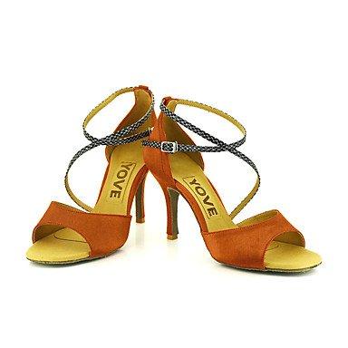 Zapatos De Baile-personalizables-mujeres-latinoamericanas Baile / Personalizado-tacón-satén-satén-negro / Azul / Amarillo / Rosa / Púrpura / Rojo Rojo