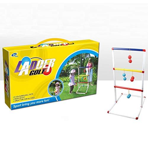 YENJOS Kinder Indoor Outdoor Ladder Toss Spiel Spielzeug Kit mit 12 Stück Golf Ball Spielzeug (Ladder Ball Spiel)