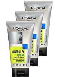 L'Oréal Paris Studio Line Gel Coiffant Cheveux pour Homme Très Fixant 150 ml  - Lot de 3
