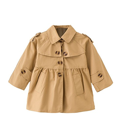 1dc68f637 Gabardina para niñas pequeñas Gabardinas Princess Autumn Windbreaker  Outwear para niños de 2 a 6 años