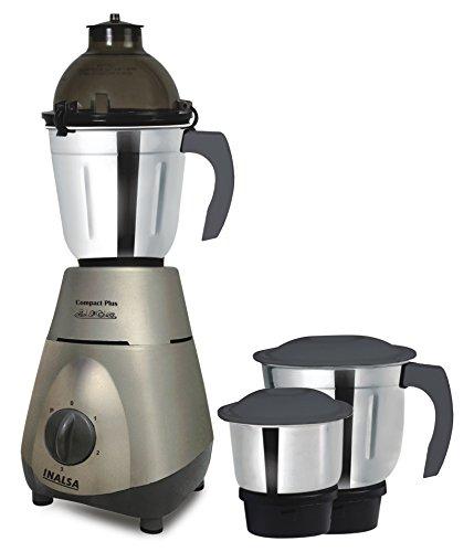 Inalsa Compact Plus 750-Watt Mixer Grinder (Grey)